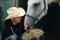 Ferienhof Cowboy mit Pferd Fortuna