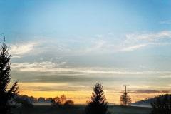 Sonnenuntergang am Ferienhof